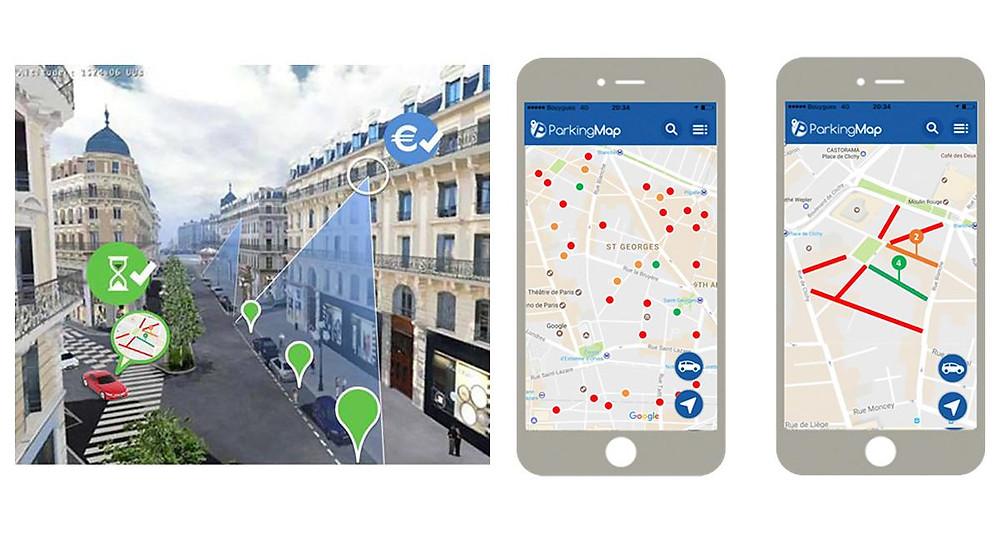 Detecter votre place de parking avec Parking Map