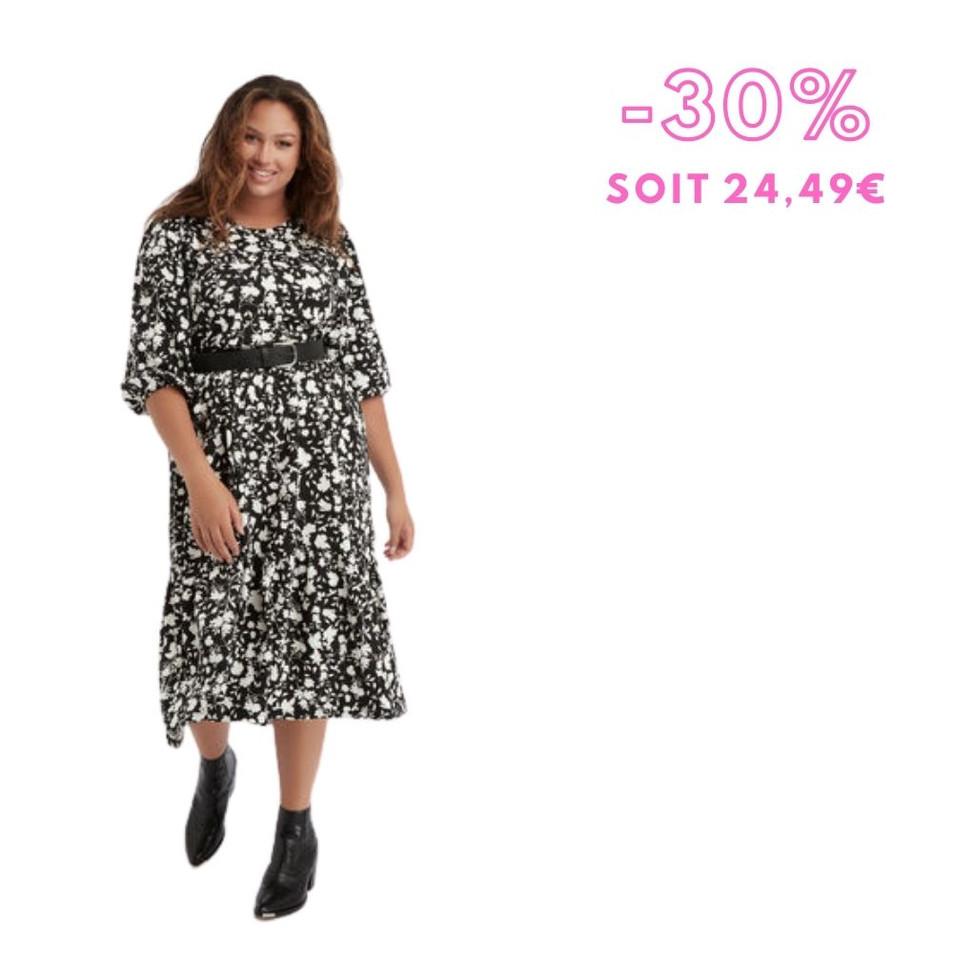 MS Mode - Longue robe ample à imprimé