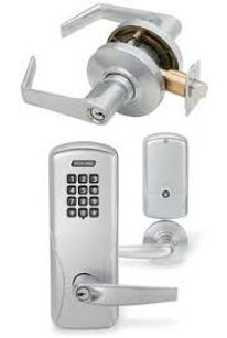 commercial mechanical push button locks and door hardware