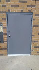 custom 48x83 commercial steel door and frame
