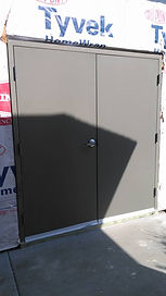 New Construction Commercial Double Door and Frame