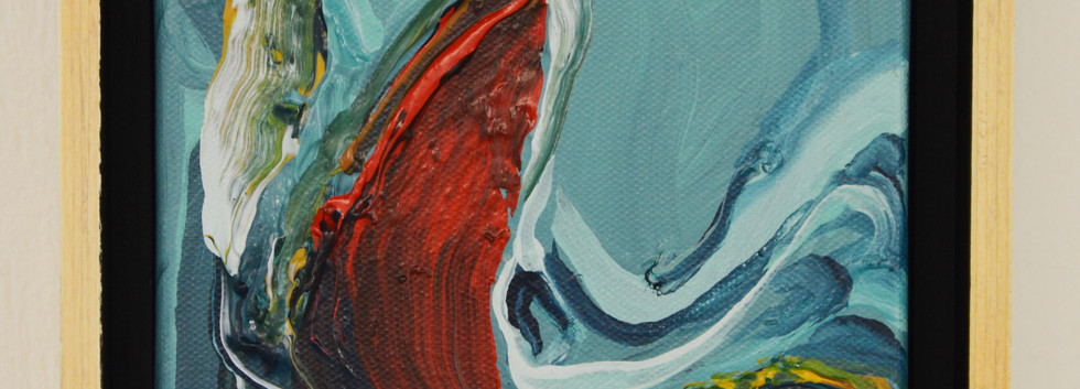 """Innate no. 7 6""""x 6""""x 2"""" -Sold- Acrylic on canvas."""