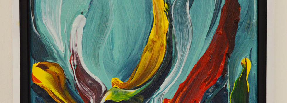 """Innate no. 5 8"""" x 10"""" x 1"""" -Sold- Acrylic on canvas."""