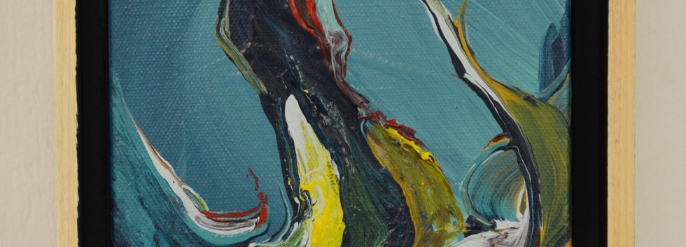 "Innate no. 10 6""x 6""x 2"" Acrylic on canvas"