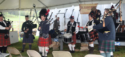 Red River Pipes and Drums Michaelson kid in front