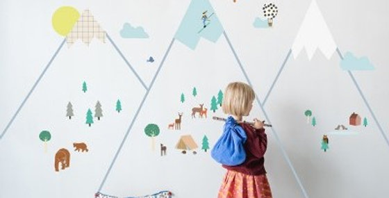 Big Mountain Giant Wall Stickers