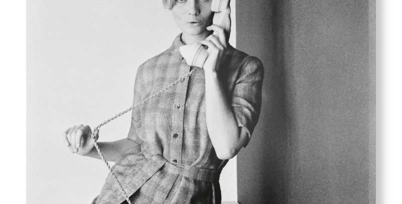 Lady on Telephone, Shot By John French, on Hand Stretched Canvas- V&A
