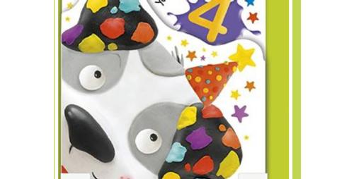 4th Birthday Card with cute dog