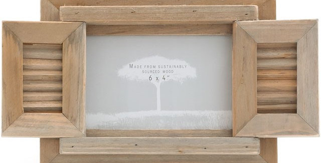 Light Coloured Driftwood Frame With Two Hinged Driftwood Doors