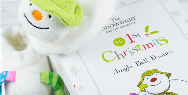 snowman and snowdog slippers for babies