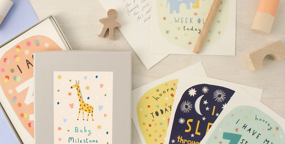 set of 24 baby milestone cards