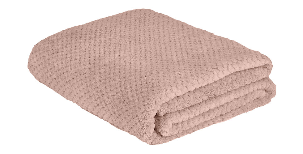 Old Rose coloured super soft blanket
