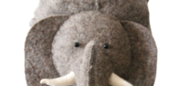 Cute elephant storage bag for nurseries and playrooms