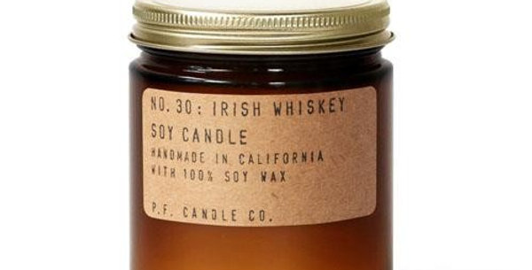 P.F. Candle Co. No. 30 Irish Whiskey Standard Soy Jar Candle