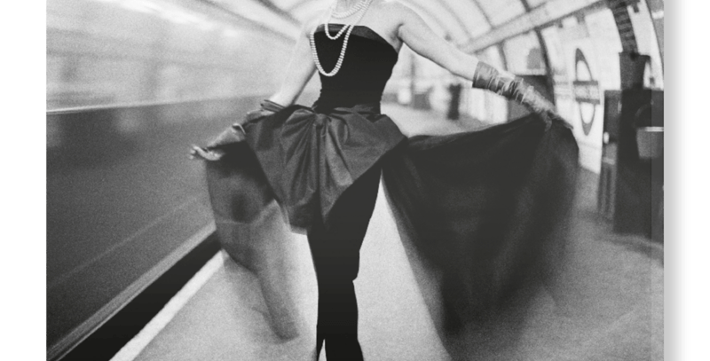 Barbara Goalen, Photographed in the Underground By John French, 1954, from V&A on Hand-Stretched Canvas
