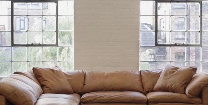 Truman Large Tan Leather Sectional Sofa