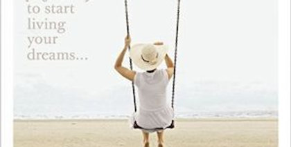 Friendship and support card with person on swing near beach and wording today is a perfect day to start living your dreams
