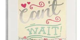 Wedding Invitation Acceptance Card with Confetti