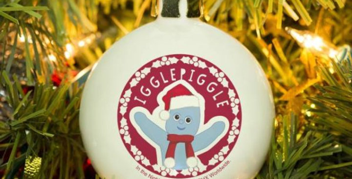 personalised iggle piggle bauble