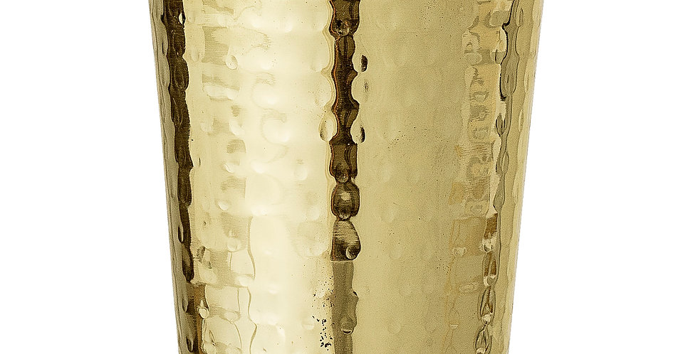 Gold Steel Drinking Glass perfect for hot toddies