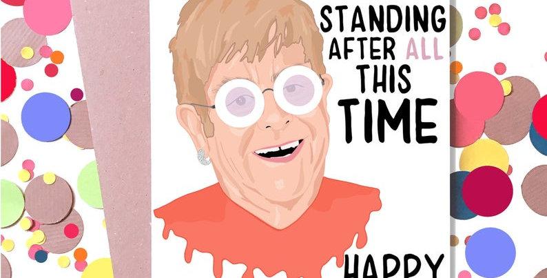 Elton John Birthday Card