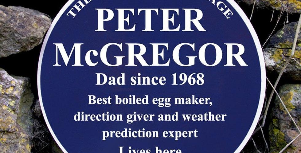 personalised blue plaque