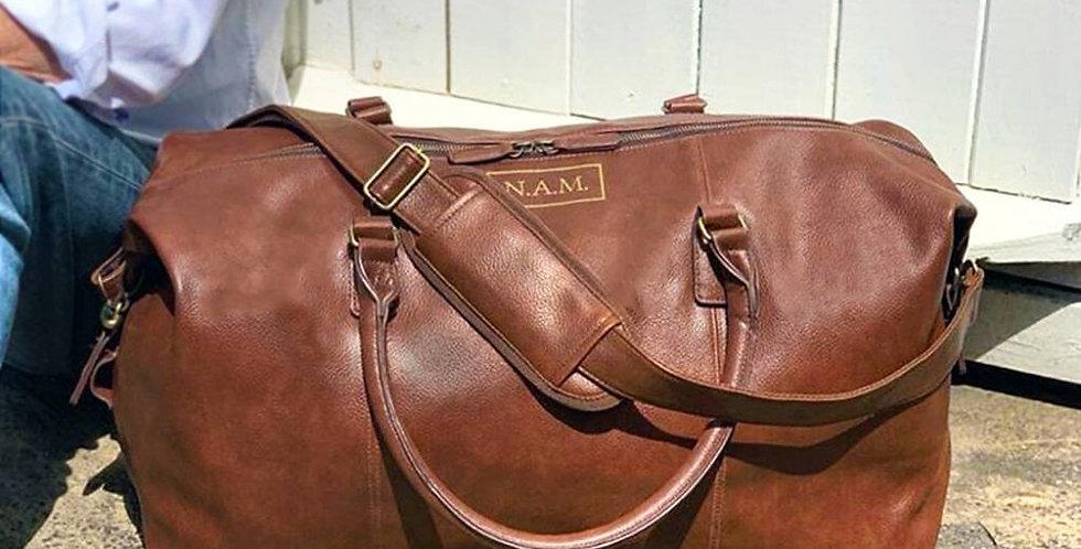 personalised vintage nuhide holdall