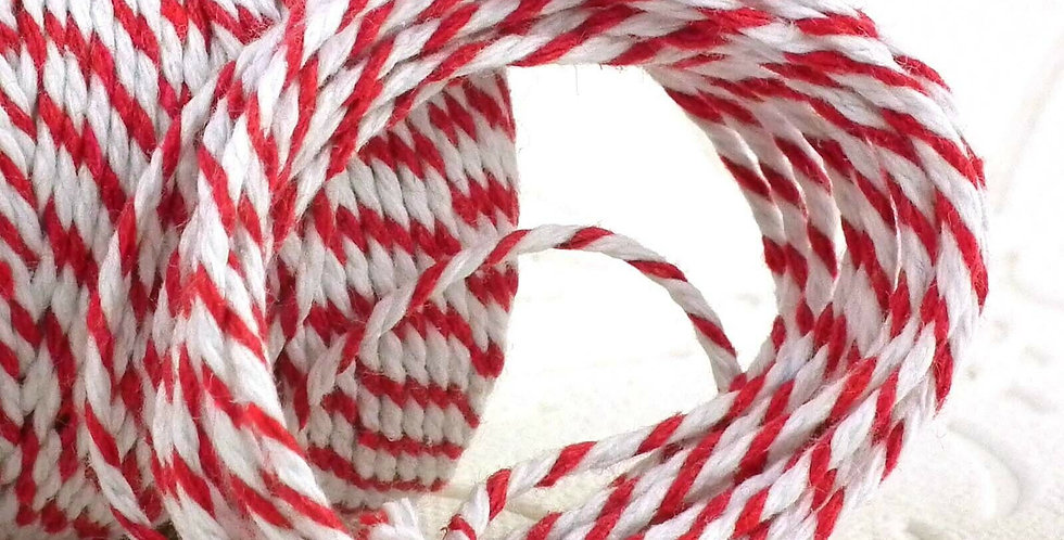 Butchers Red & White 12ply Cotton Bakers Twine 10m
