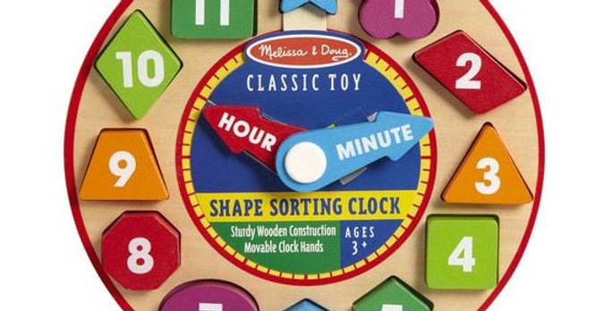 Shape Sorting Clock by Melissa and Doug