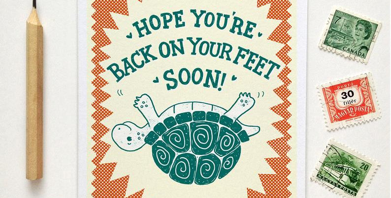 Hope You're Back On Your Feet Soon Get Well Card
