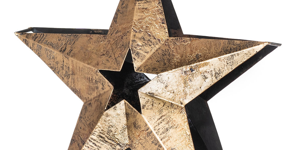 free standing a frame bronze star tealight holder with star cut out