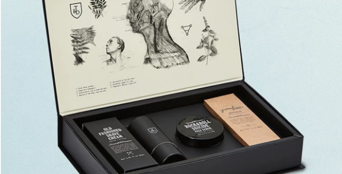 Based upon an old apothecary set, the T&D 'Stash Box' is a one-stop shop of shaving and skincare gold