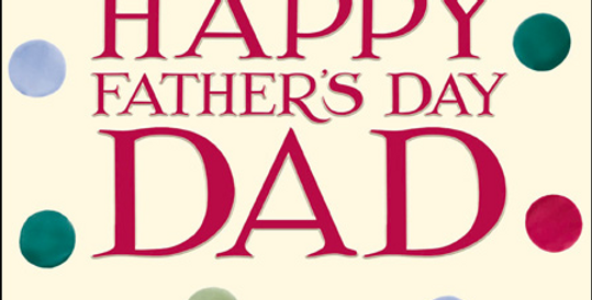 Cream father's day card with multicoloured dots and happy father's day dad wording