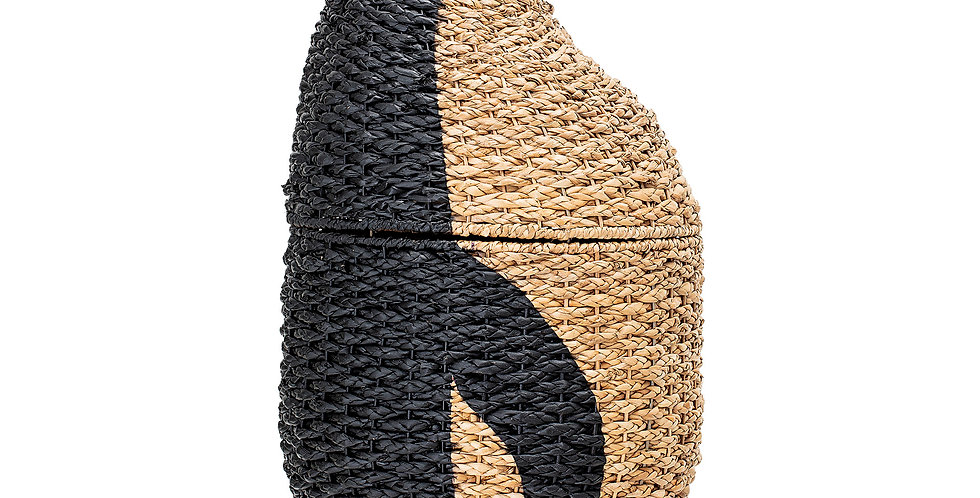 Bankuan Grass Penguin Storage Basket Black/Natural