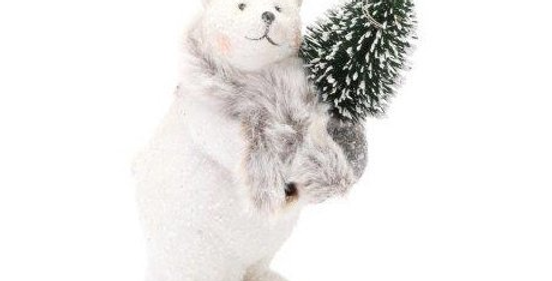 Polar Bear and Tree with LED