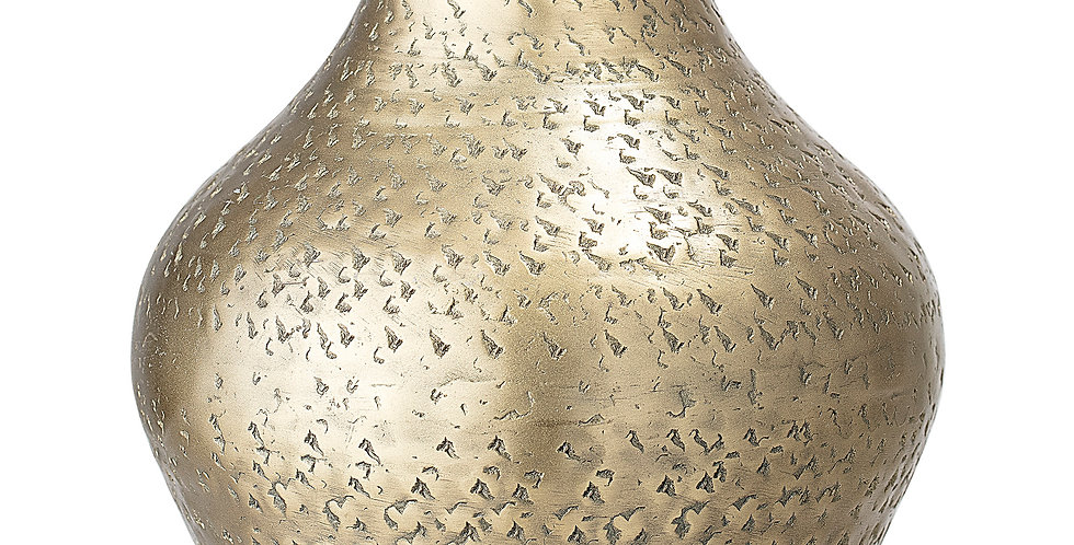 hammered brass vase is the perfect vessel for a bouquet of flowers and also lovely as a stand alone statement piece., 14.5cm
