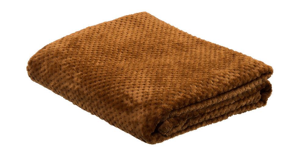 Camel coloured super soft blanket