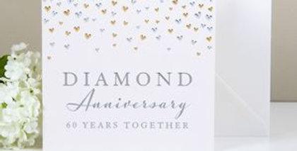 Diamond Anniversary card for couple