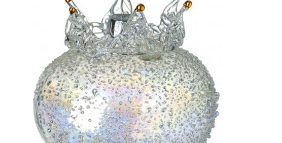Speckled Glass Crown Droplet Bauble