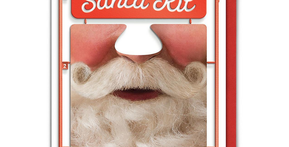 christmas card with santa face that can be made into a mask