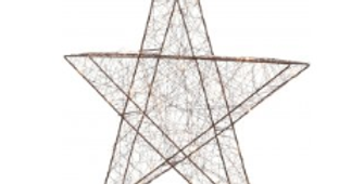 Large copper metal wire star that self standing