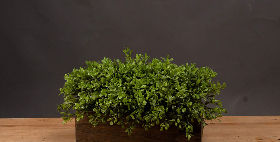 faux topiary in a decorative box