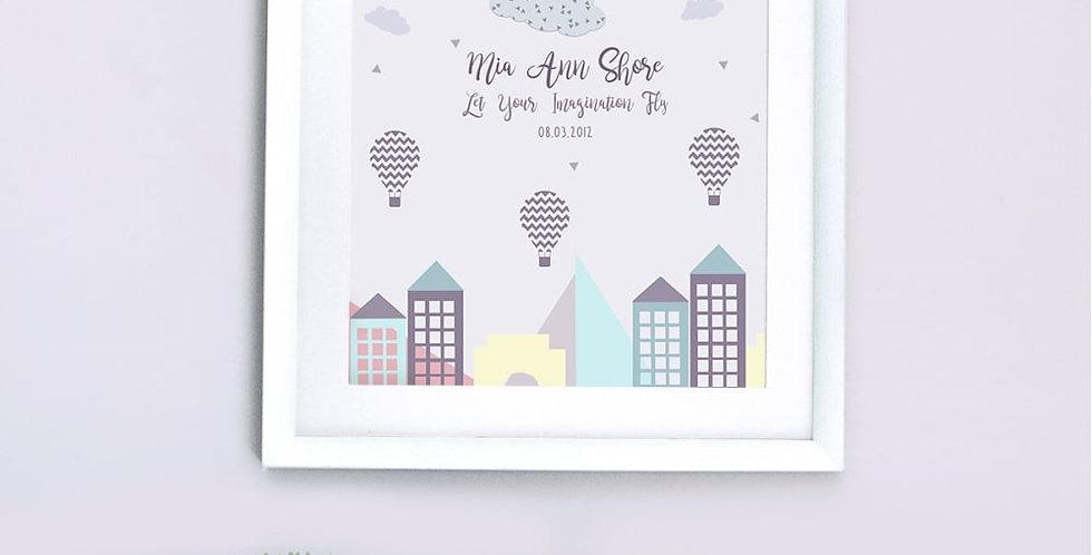personalised imagination nursery print