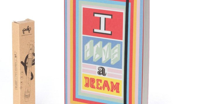 Dream journal with I have a dream wording on cover comes with light up pen