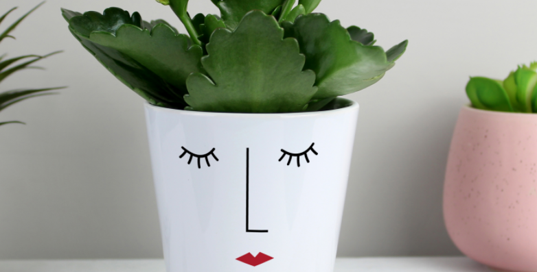 Personalised 'Mrs Face' Plant Pot
