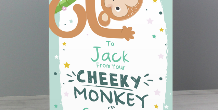 Personalised From Your Cheeky Monkey Card