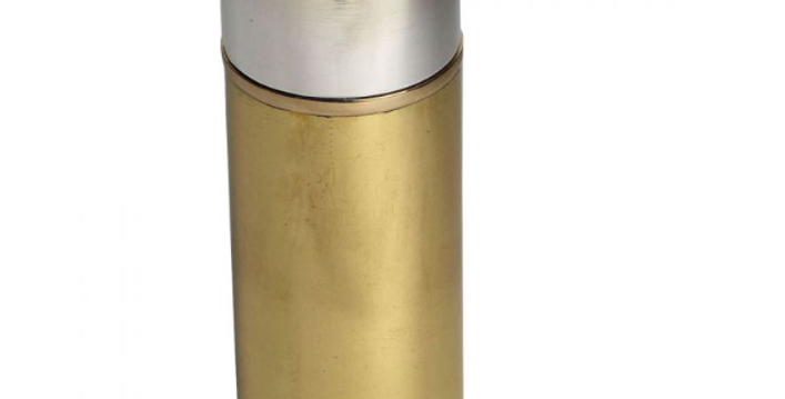 cartridge hip flask, with a cylindrical twist