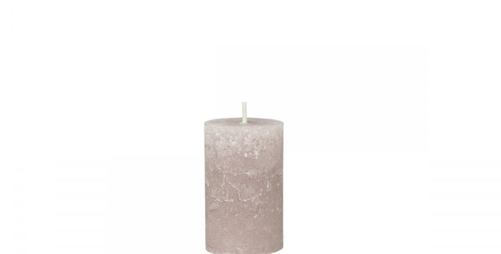Taupe coloured rustic style candle. 16 hour burn time.