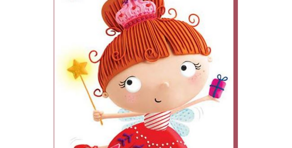 Christmas cartoon fairy with wand with words to a wonderful granddaughter