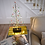 Artificial Christmas tree with 80 warm white LEDs and small red, green and white pom pom ornaments and black branches